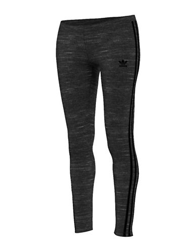Adidas Heathered Stretchy Leggings-GREY-Large 88560993_GREY_Large