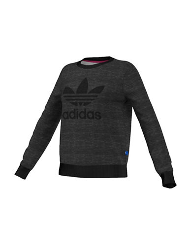 Adidas Trefoil Heathered Sweater-GREY-Large 88561008_GREY_Large