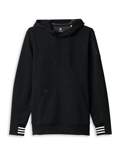 Adidas Sport ID Bonded Fleece Pullover Hoodie-BLACK-Small 88674498_BLACK_Small