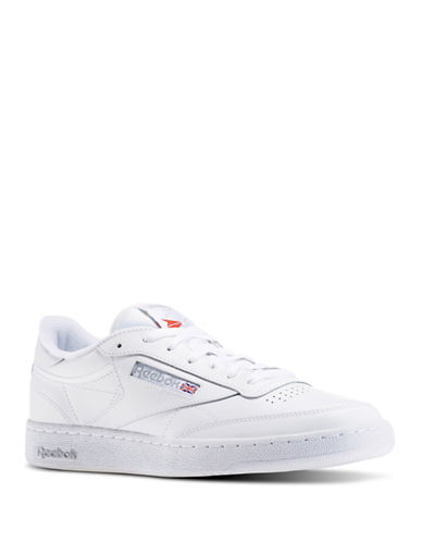 Reebok Mens Club Sneakers-WHITE-9.5
