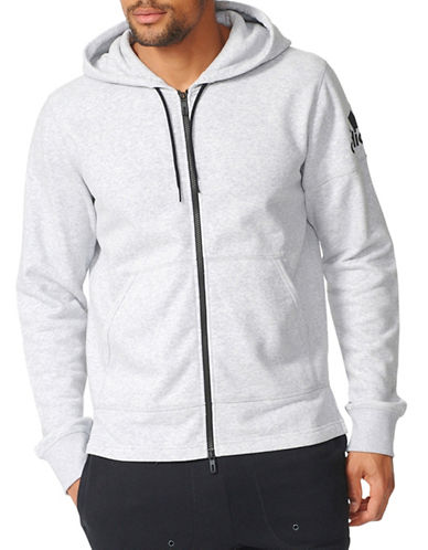 Adidas Elevated Zip Hoodie-GREY-X-Large 88889552_GREY_X-Large