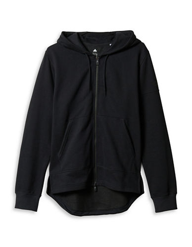 Adidas Postgame Fleece Full-Zip Hoodie-BLACK-Small 88674508_BLACK_Small