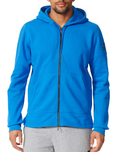 Adidas Elevated Zip Hoodie-BLUE-X-Large 88889557_BLUE_X-Large