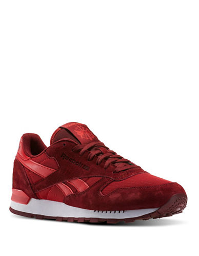 Reebok Leather Athletics Sneakers-RED-12 88555010_RED_12