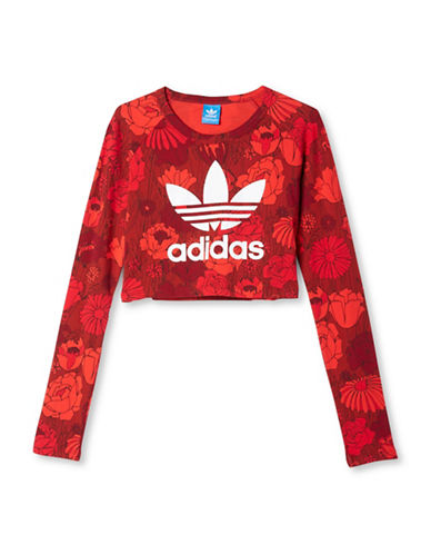 Adidas Cropped BF Long Sleeve Tee-RED-X-Large 88468920_RED_X-Large