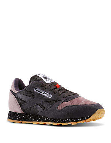 Reebok Classic Leather Suede and Leather SM Sneakers-GREY-11.5 88664324_GREY_11.5