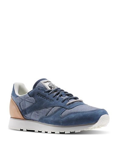Reebok Fleck Leather Sneakers-BLUE-9.5 88664297_BLUE_9.5