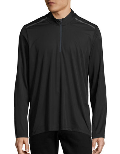 Adidas Climacool Mesh Mock Zip Top-BLACK-Medium 88424287_BLACK_Medium