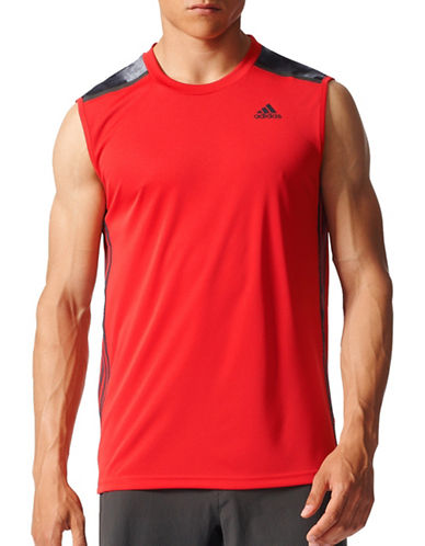 Adidas Cool365 Sleeveless Tee-RED-Medium 88889545_RED_Medium