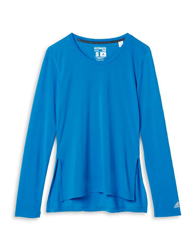 Adidas Side Slit Ultimate T-Shirt-BLUE-X-Small 88702218_BLUE_X-Small