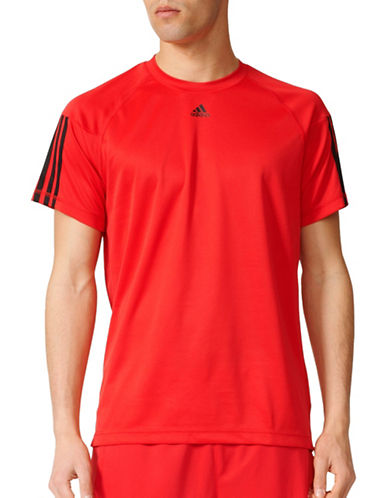 Adidas Base Three Stripe T-Shirt-RED-Medium 88766105_RED_Medium