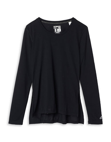 Adidas Side Slit Ultimate T-Shirt-BLACK-Small 88702209_BLACK_Small