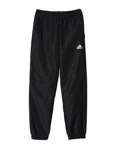 Adidas Embossed Cuffed Pants-BLACK-Small 89211445_BLACK_Small