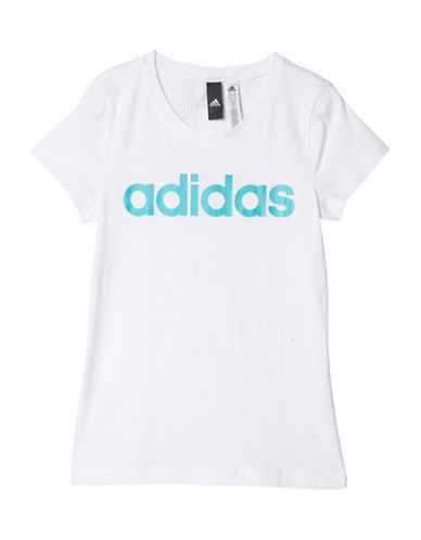 Adidas Essentials Linear Tee-WHITE-6-7