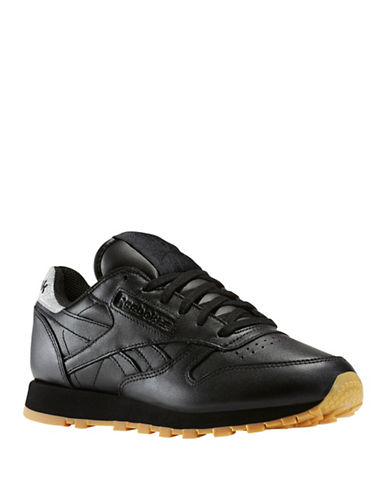 Reebok Classic Leather Metallic Diamond Sneakers-BLACK-10 89005096_BLACK_10