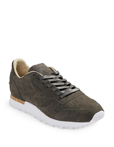 Reebok Monochrome Suede Sneakers-GREY-11.5 89190485_GREY_11.5