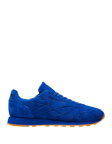 Reebok Mens Suede Athletic Shoes-ROYAL-9.5