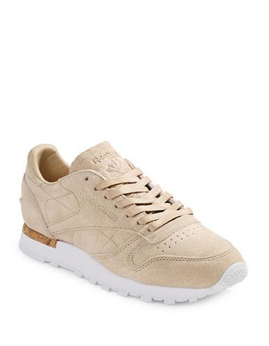 Reebok Mens Monochrome Suede Sneakers-BROWN-13