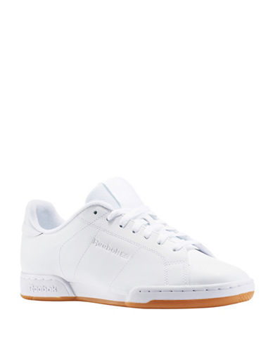Reebok NPC II TG Leather Sneakers-WHITE-13 88988392_WHITE_13