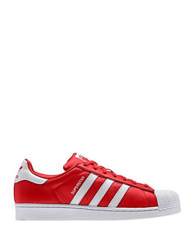 Adidas Originals Mens Superstar Shell Toe Sneakers-RED-11