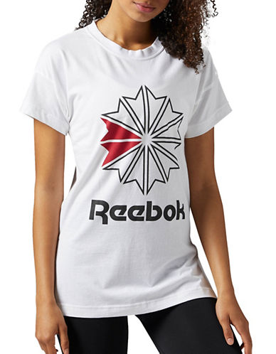 Reebok F Graphic Cotton Tee-WHITE-Small