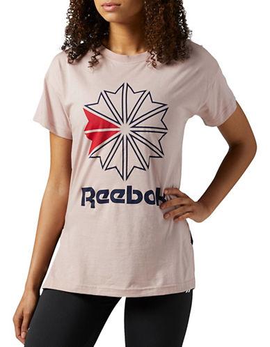 Reebok Round Neck Logo Tee-PINK-X-Large 89654528_PINK_X-Large