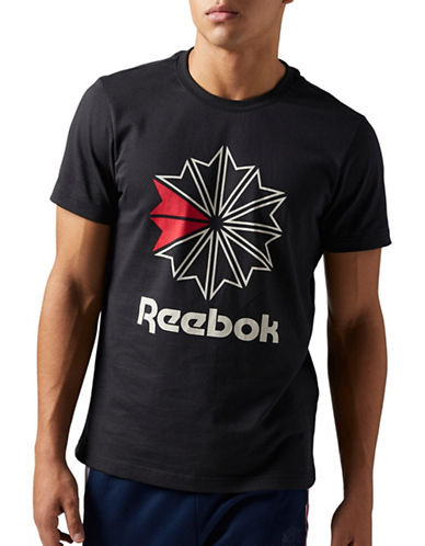 Reebok Single Jersey Cotton Tee-BLACK-XX-Large