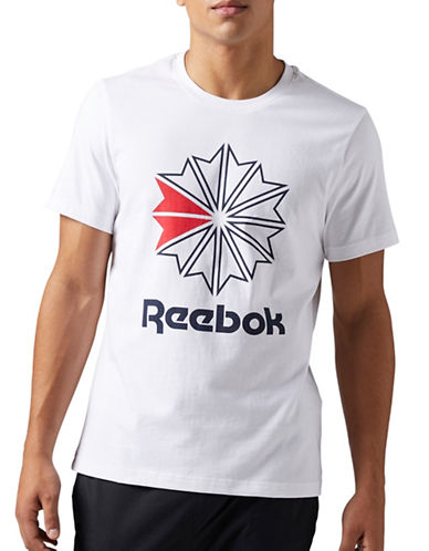 Reebok Logo Cotton Tee-WHITE-Large