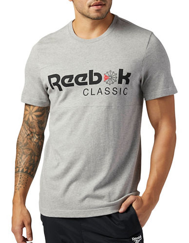 Reebok F Franchise Iconic Tee-GREY-X-Large