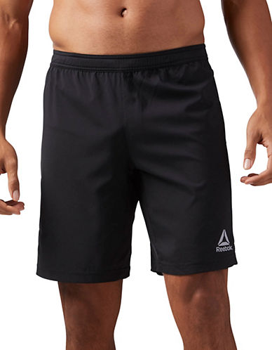 Reebok Performance Woven Shorts-BLACK-Large 90050711_BLACK_Large