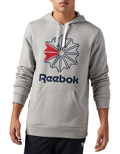 Reebok Foundation Starcrest Hoodie-GREY-Large