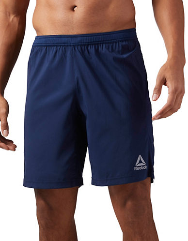 Reebok Performance Woven Shorts-NAVY BLUE-Small 90050704_NAVY BLUE_Small