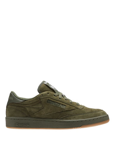 Reebok CLUB C 85 SG Leather Low-Top Sneakers-GREEN-11