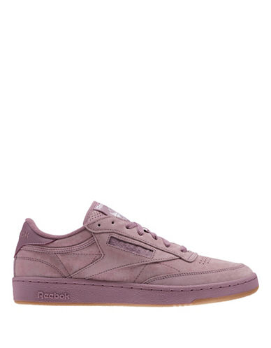 Reebok CLUB C 85 SG Leather Low-Top Sneakers-PINK-10