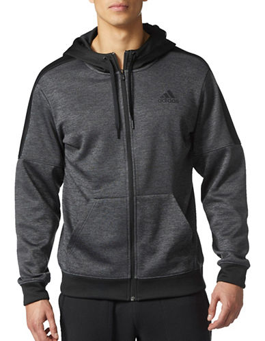 Adidas Team Issue Hoodie-GREY-Large