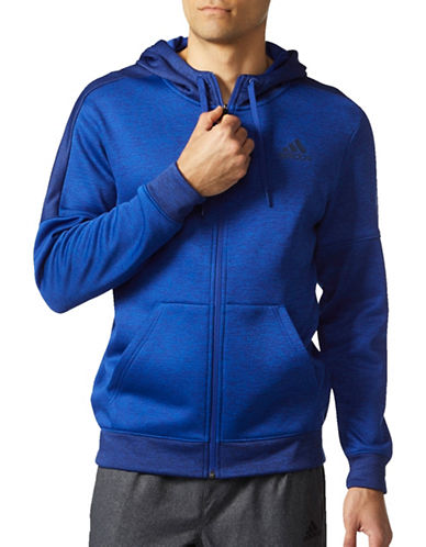 Adidas Team Issue Hoodie-BLUE-Large