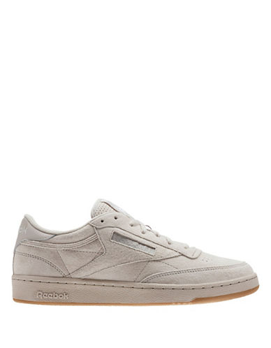 Reebok CLUB C 85 SG Leather Low-Top Sneakers-BEIGE-10.5