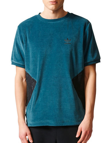 Adidas Ornamental Block Velour Sweatshirt-BLUE-Small 89244100_BLUE_Small