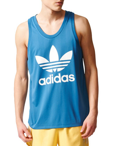 Adidas Summer Trefoil Tank Top-BLUE-X-Large 89245577_BLUE_X-Large