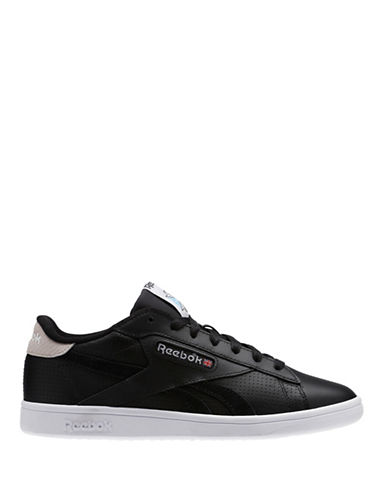 Reebok NPC Low Top Leather Sneakers-BLACK-7 89459450_BLACK_7