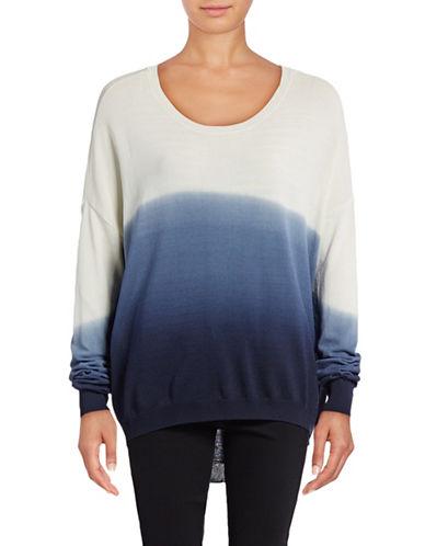Design Lab Lord & Taylor Dip Dye Drop-Shoulder Sweater 88901170