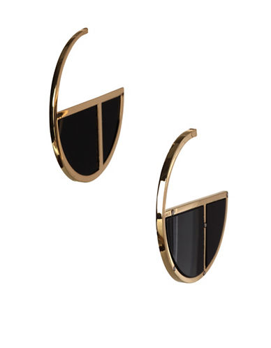 Bcbgeneration Clover Half-Hoop Earrings-GOLD-One Size
