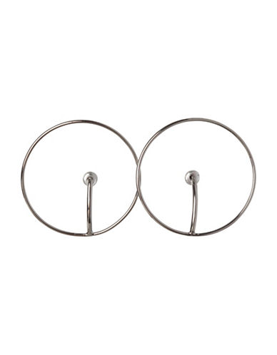 Bcbgeneration Open Circle Hoop Earrings-SILVER-One Size