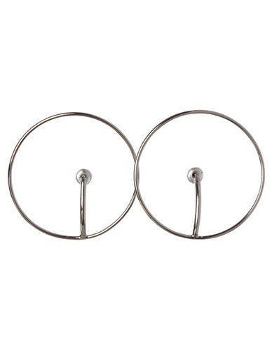 Bcbgeneration Open Snail Hoop Earrings-GOLD-One Size