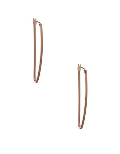 Bcbgeneration Open Snail Hoop Earrings-PINK-One Size