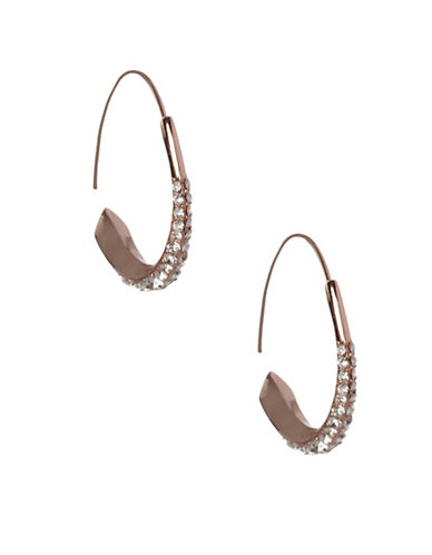 Bcbgeneration Pave Round Earrings-ROSE GOLD-One Size