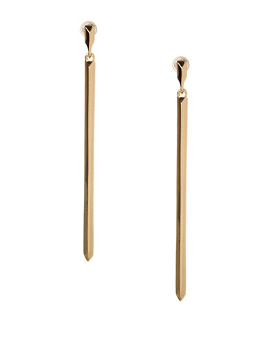 Bcbgeneration Replenishment Linear Drop Earrings-GOLD-One Size
