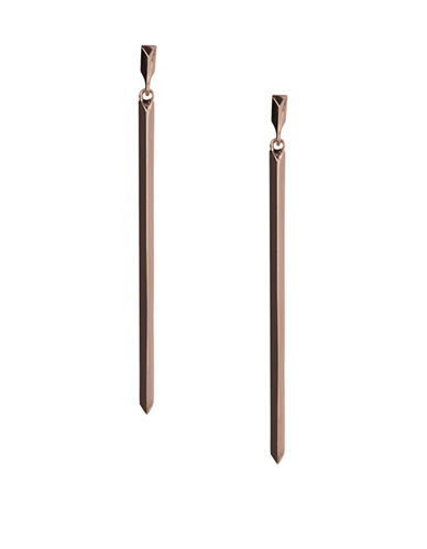 Bcbgeneration Replenishment Rose-Goldtone Linear Drop Earrings-ROSE GOLD-One Size