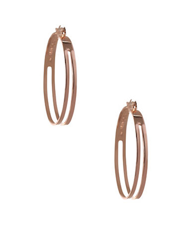 Bcbgeneration Replenishment 2-Row Hoop Earrings-ROSE GOLD-One Size