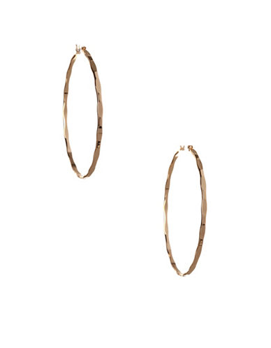 Bcbgeneration Textured Hoop Earrings-GOLD-One Size
